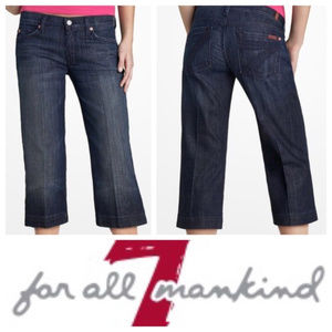 7 FOR ALL MANKIND || Dark Cropped DOJO Jeans